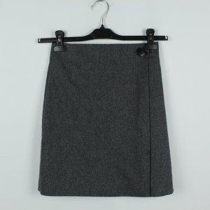 Massimo Dutti Wraparound Skirt dark grey