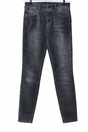 Massimo Dutti Drainpipe Trousers black casual look