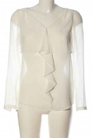Massimo Dutti Ruffled Blouse natural white business style