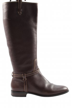 Massimo Dutti Jackboots brown casual look