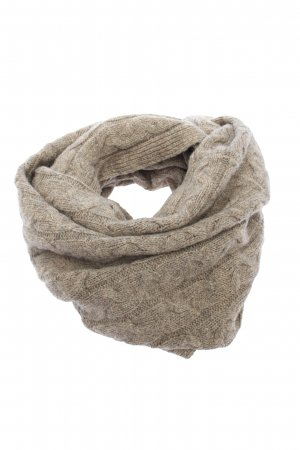 Massimo Dutti Tube Scarf brown cable stitch casual look