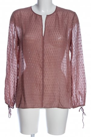 Massimo Dutti Schlupf-Bluse pink Casual-Look