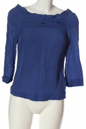 Massimo Dutti Schlupf-Bluse blau Casual-Look