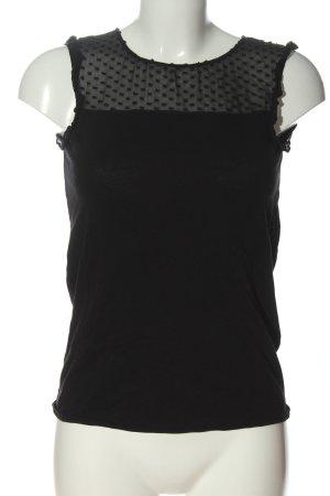 Massimo Dutti Schlupf-Bluse schwarz Punktemuster Casual-Look