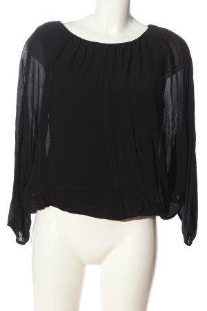 Massimo Dutti Schlupf-Bluse schwarz Elegant