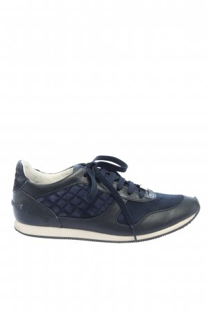 Massimo Dutti Schnürsneaker schwarz-blau Steppmuster Casual-Look