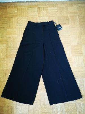 Massimo Dutti 7/8 Length Trousers black