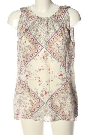 Massimo Dutti Top de seda estampado repetido sobre toda la superficie elegante