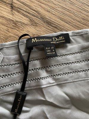 Massimo Dutti Silk Top light grey-silver-colored