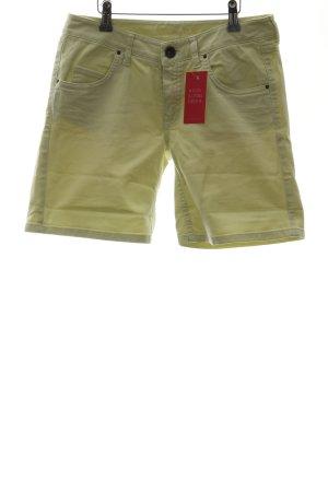 Massimo Dutti Shorts limettengelb Casual-Look