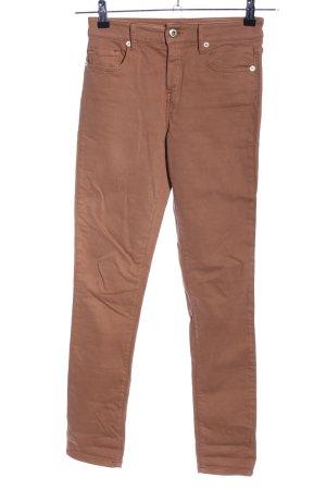 Massimo Dutti Skinny Jeans braun Casual-Look