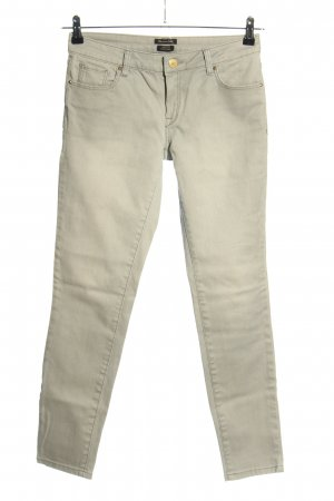 Massimo Dutti Skinny Jeans wollweiß Casual-Look