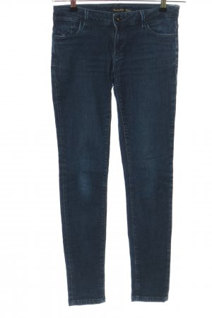 Massimo Dutti Skinny Jeans blau Casual-Look
