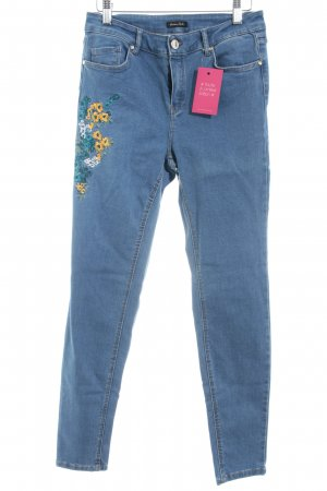 Massimo Dutti Skinny Jeans Blumenmuster Casual-Look