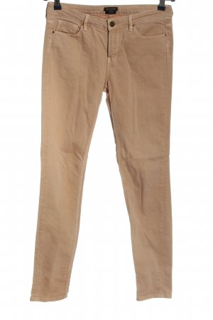 Massimo Dutti Skinny Jeans nude Casual-Look