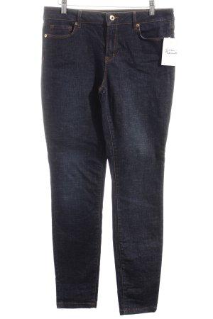 Massimo Dutti Skinny Jeans dunkelblau schlichter Stil