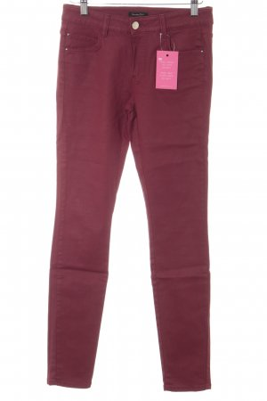 Massimo Dutti Skinny Jeans dunkelrot Casual-Look