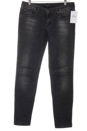 Massimo Dutti Skinny Jeans grau-hellgrau Casual-Look