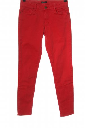 Massimo Dutti Skinny Jeans rot Casual-Look