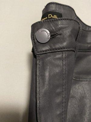 Massimo Dutti Five-Pocket Trousers grey-dark grey cotton