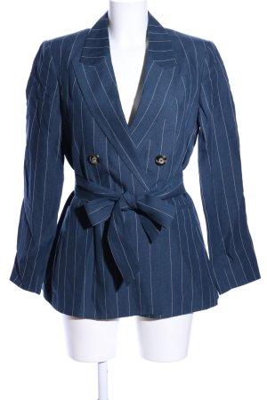 Massimo Dutti Veste de smoking bleu-blanc motif rayé style d'affaires
