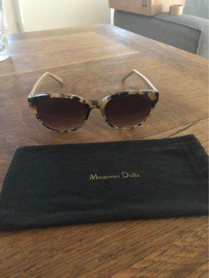 Massimo Dutti Owalne okulary przeciwsłoneczne Wielokolorowy