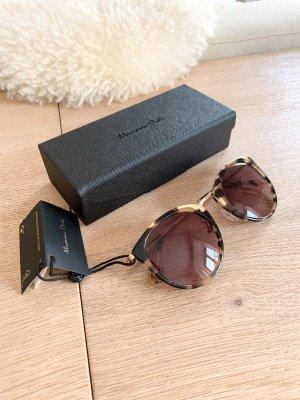 Massimo Dutti Sonnenbrille braun Leo gold edel elegant NEU