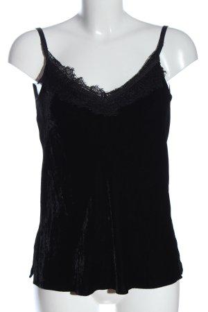 Massimo Dutti Top z cienkimi ramiączkami czarny W stylu casual