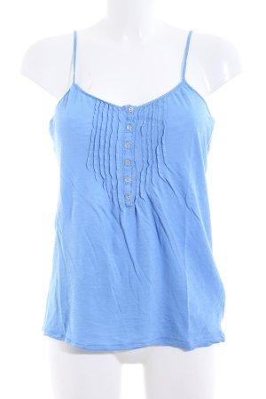Massimo Dutti Spaghettiträger Top blau Casual-Look