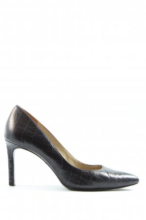 Massimo Dutti Spitse pumps zwart volledige print casual uitstraling