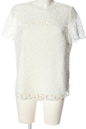Massimo Dutti Blusa in merletto bianco modello web stile casual