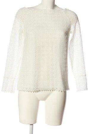 Massimo Dutti Lace Blouse white casual look