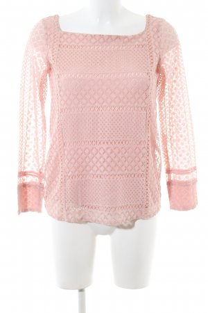 Massimo Dutti Spitzenbluse pink Casual-Look