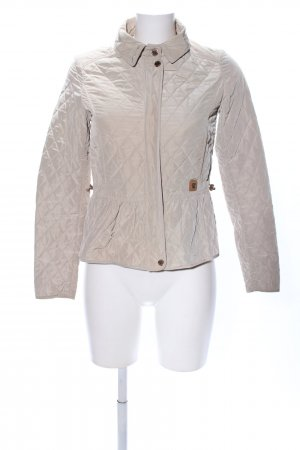 Massimo Dutti Quilted Jacket light grey quilting pattern casual look