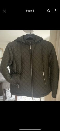Massimo Dutti Quilted Jacket green grey