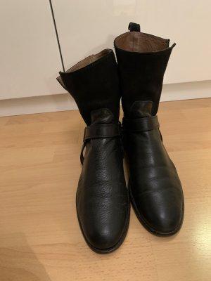 Massimo Dutti Krótkie buty czarny