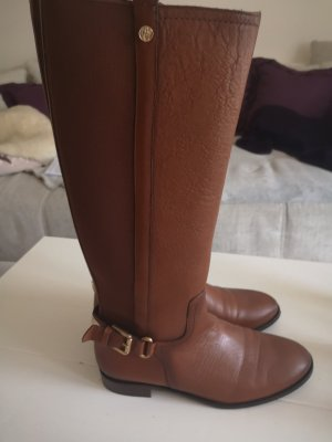 Massimo Dutti Riding Boots brown-cognac-coloured