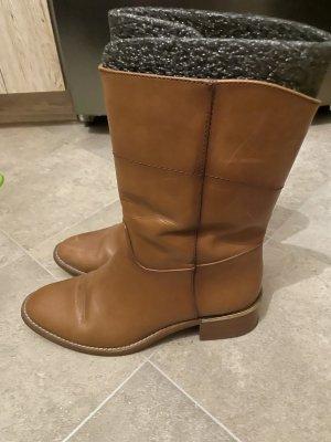 Massimo Dutti Winter Booties brown