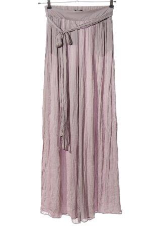 Massimo Dutti Pantalon en jersey rose style décontracté
