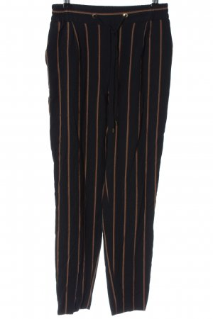 Massimo Dutti Jersey Pants black-brown striped pattern casual look