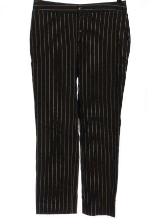 Massimo Dutti Stoffhose schwarz-hellorange Streifenmuster Casual-Look