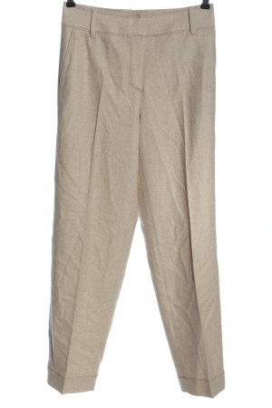 Massimo Dutti Stoffhose creme meliert Business-Look