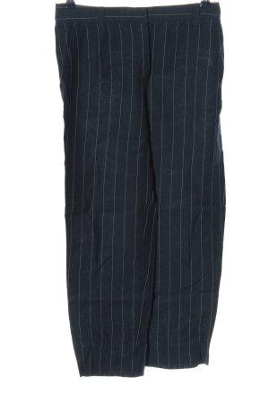 Massimo Dutti Stoffhose blau-weiß Allover-Druck Business-Look