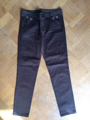 Massimo Dutti Jersey Pants taupe-dark brown cotton