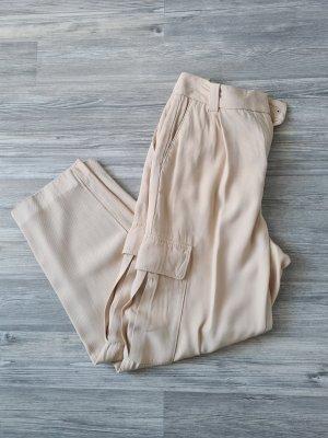 Massimo Dutti Cargo Pants cream