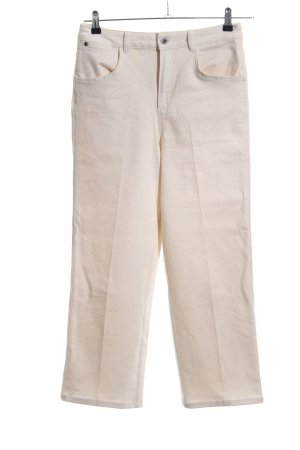 Massimo Dutti Straight-Leg Jeans wollweiß Casual-Look