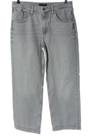 Massimo Dutti Jeansy z prostymi nogawkami jasnoszary W stylu casual
