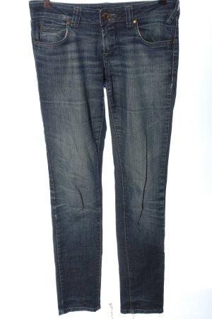 Massimo Dutti Straight-Leg Jeans blau Casual-Look