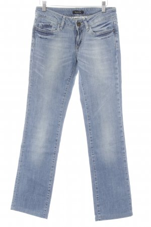 Massimo Dutti Straight-Leg Jeans himmelblau Casual-Look