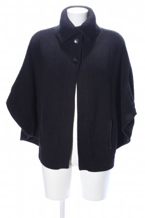 Massimo Dutti Strick Cardigan schwarz Zopfmuster Casual-Look